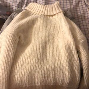 Wool blend sparkly sweater